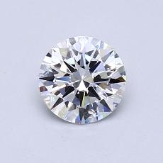 0.71-Carat Round Diamond Ideal D VVS2