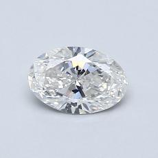 0,52 Carat Ovale Diamond Très bonne G SI2