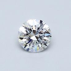 目标宝石:0.50克拉圆形切割钻石