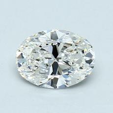 1.01 Carat 椭圆形 Diamond 非常好 H VVS1
