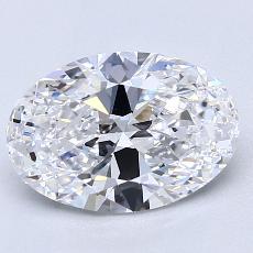 2.01-Carat Oval Diamond Very Good D VVS2