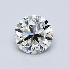 1.00 Carat 圓形 Diamond 良好 I VVS2