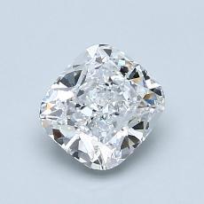 目标宝石:1.01 克拉垫形钻石