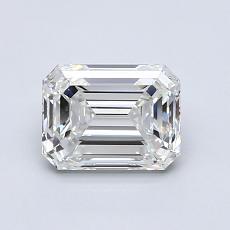 1.04-Carat Emerald Diamond Very Good H VVS1