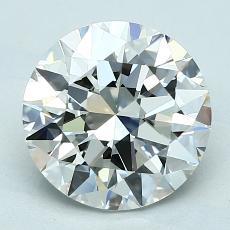 2,50-Carat Round Diamond Ideal G VVS1