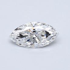 0.42-Carat Marquise Diamond Very Good D VVS2