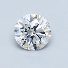 0.80 Carat Redondo Diamond Ideal D VVS2