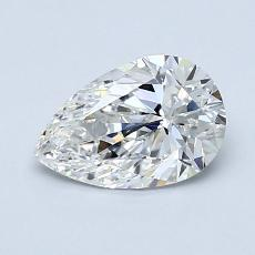 0.90-Carat Pear Diamond Very Good G VS2