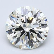 3.03-Carat Round Diamond Ideal J VS1