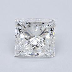 推荐宝石 2:1.21 克拉公主方形钻石