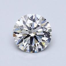 1.03-Carat Round Diamond Ideal E VVS2