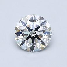 0.80-Carat Round Diamond Ideal E VS1