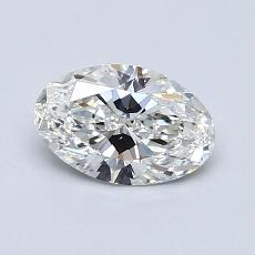 0.80-Carat Oval Diamond Very Good G VVS2