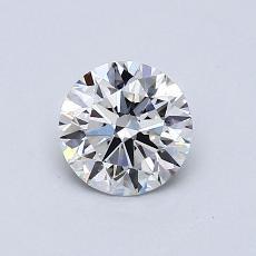 0.70 Carat 圆形 Diamond 理想 G SI1