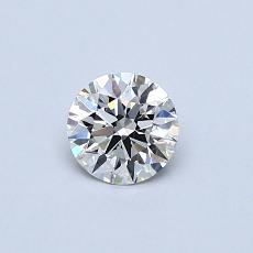 0.42-Carat Round Diamond Ideal F VS1