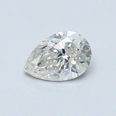 0.50-Carat Pear Diamond Very Good I SI1