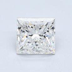 1.51 Carat 公主方形 Diamond 非常好 F VVS2