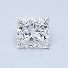 0.70 Carat 公主方形 Diamond 非常好 E VVS2