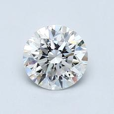 0.80-Carat Round Diamond Ideal F VVS2