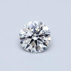 0.40-Carat Round Diamond Ideal D FL