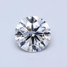 0.80 Carat 圓形 Diamond 理想 D VS2