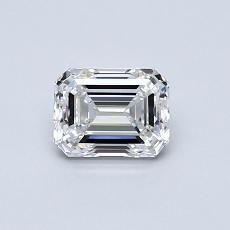 0.60 Carat Esmeralda Diamond Muy buena E VVS1