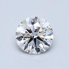 0.75-Carat Round Diamond Ideal D IF