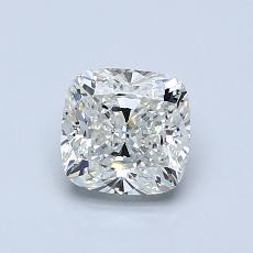 1.00-Carat Cushion Diamond Good J VS1