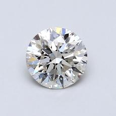 0.76-Carat Round Diamond Ideal J VS1