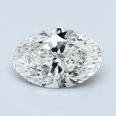 1.01-Carat Oval Diamond Very Good G VVS1