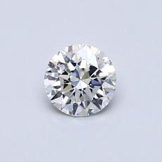 0.41-Carat Round Diamond Ideal D FL