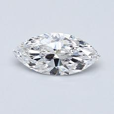 0,50-Carat Marquise Diamond Very Good D IF
