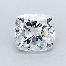 1,51-Carat Cushion Diamond Very Good D SI1