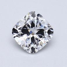 ターゲットの石:1.01カラットのクッションカットダイヤモンド