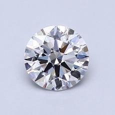 0,90-Carat Round Diamond Ideal D VS1