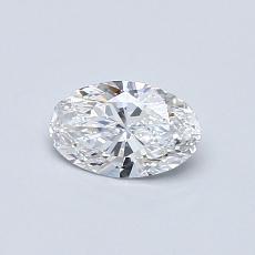 0.40 Carat 椭圆形 Diamond 非常好 D VVS1