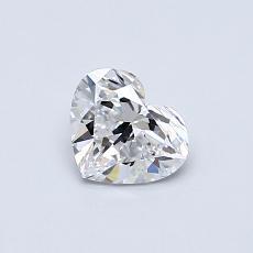 Pierre recommandée n°2: Diamant taille cœur 0,51carat
