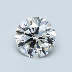0.90 Carat 圓形 Diamond 理想 E VS2