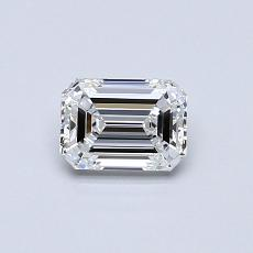 0.51-Carat Emerald Diamond Very Good D VVS2