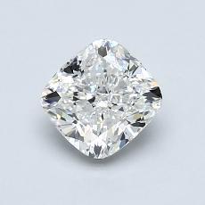 1.00-Carat Cushion Diamond Very Good H VVS1