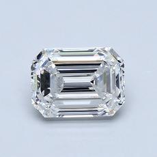 1.01-Carat Emerald Diamond Very Good F VS1
