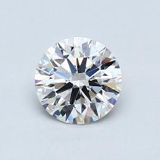 0.72 Carat 圆形 Diamond 理想 E VVS1