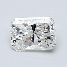 Pierre cible : Diamant taille radiant 0,75 carats