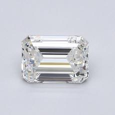 Piedra recomendada 2: Diamante de talla esmeralda de 1.00 quilates