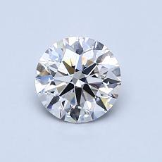 0,76-Carat Round Diamond Ideal G VS1