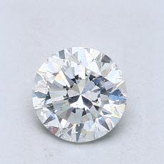 1.00 Carat 圓形 Diamond 良好 J SI1