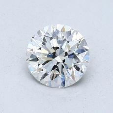 0.70-Carat Round Diamond Ideal F VS1