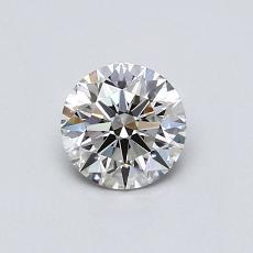 0.51-Carat Round Diamond Ideal I VVS2