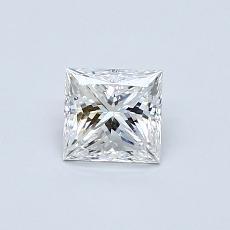 0.50-Carat Princess Diamond Very Good F VVS2
