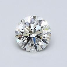 0,80-Carat Round Diamond Ideal H VVS2